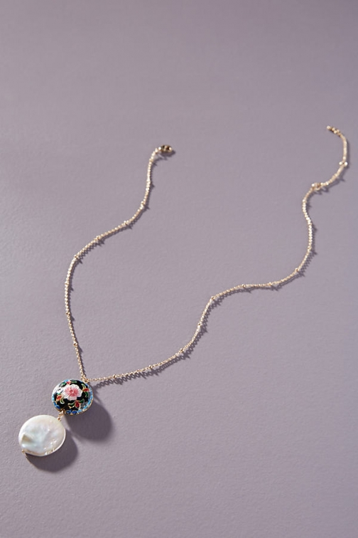 Anthropologie Agatha Pearl Necklace