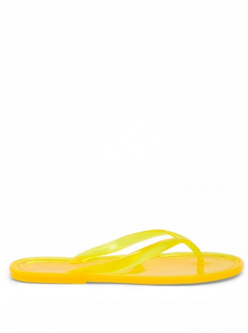 Forever21 Forever 21 Jelly , Yellow Flip Flop