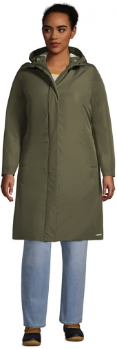 Lands' End Women's Plus Size Insulated - Lands' End - Green - 1X Raincoat