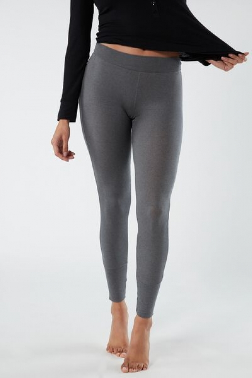 Intimissimi Ribbed Modal Cashmere Ultralight Woman Dark Grey Size S Legging