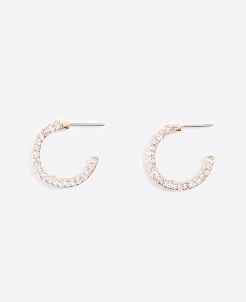 Ann Taylor Pave Mini Hoop Earring Set Jewellery