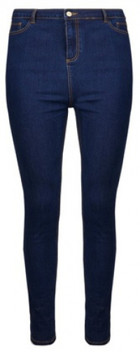 Dorothy Perkins Dp Curve Indigo High Waisted Skinny Fit Denim 'Disco' Jeans