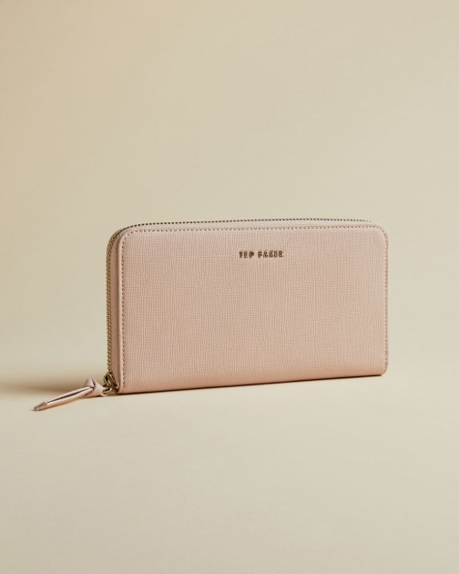 Ted Baker Zip Around Leather Matinee Purse