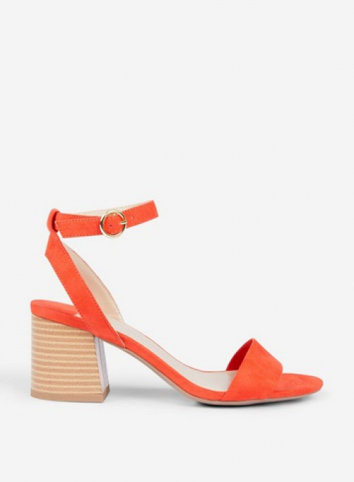 Dorothy Perkins Wide Fit Red 'Shady' Block Heeled Sandals