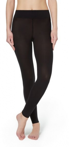 Calzedonia Soft Touch Total Comfort Opaque Woman Black Size M/L Legging