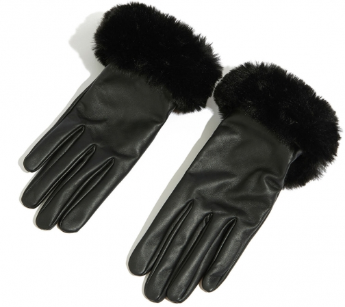Oasis LEATHER FAUX FUR TRIM Glove