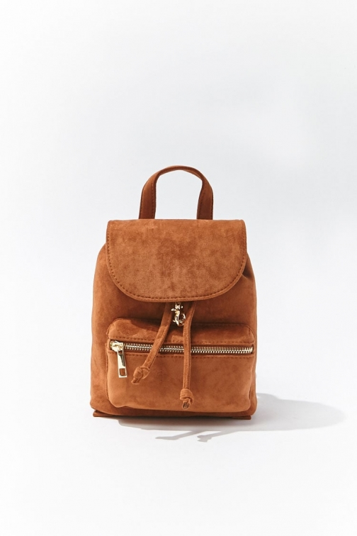 Forever21 Forever 21 Faux Suede , Brown Backpack