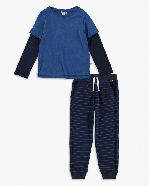 Splendid Baby Boy Striped Pant Set Trouser