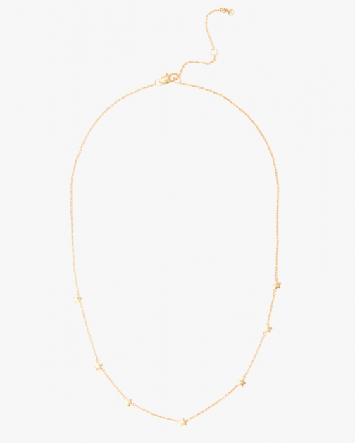 7 For All Mankind Spread Out Star Gold Necklace