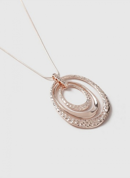 Dorothy Perkins Rose Gold Organic Pendent Necklace