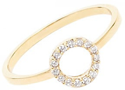 Forever21 Forever 21 Cubic Zirconia , Gold/clear Ring