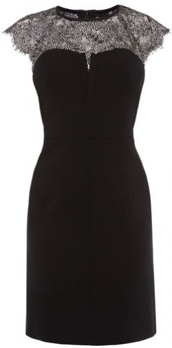 Karen Millen Lace Insert Pencil Dress