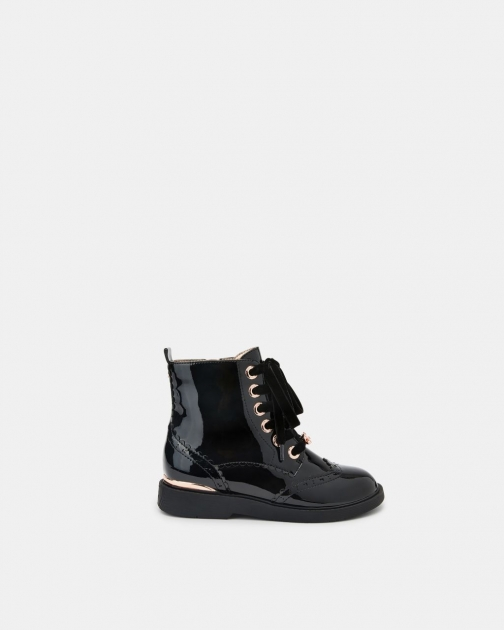 Ted Baker Patent Lace-up Brogue Boot