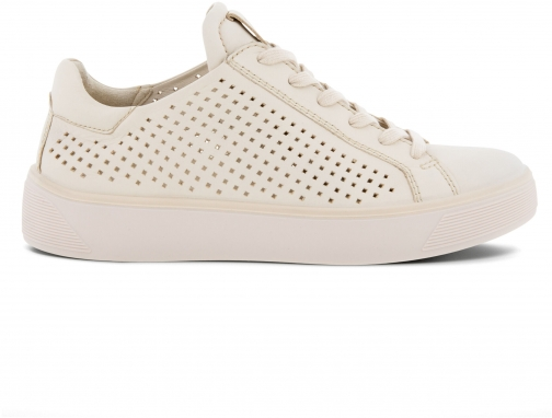 Ecco Street Tray W Laced Shoes Sneakers Size 4 Limestone Trainer