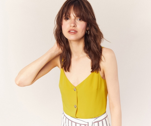 Oasis Textured Button Cami Top