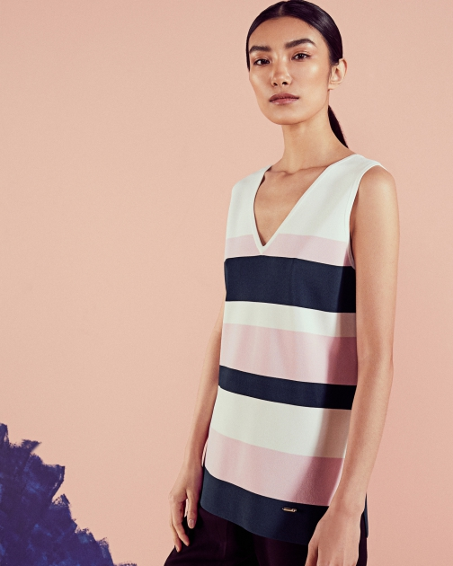 Ted Baker Colour-block Knitted Vest Top