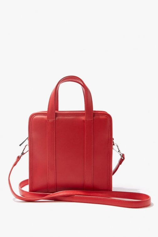 Forever21 Forever 21 Faux Leather Bag , Red Tote