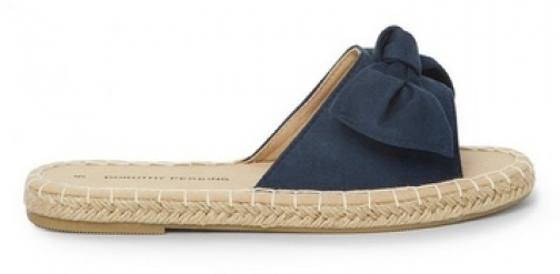Dorothy Perkins Womens Navy 'Freedom' Bow Mules- Blue, Blue