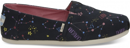 Toms Glow The Dark Astrology Women's Classics Slip-On Shoes