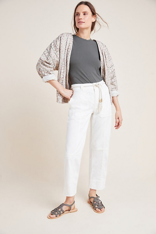 Anthropologie Cropped Utility Trousers Trouser