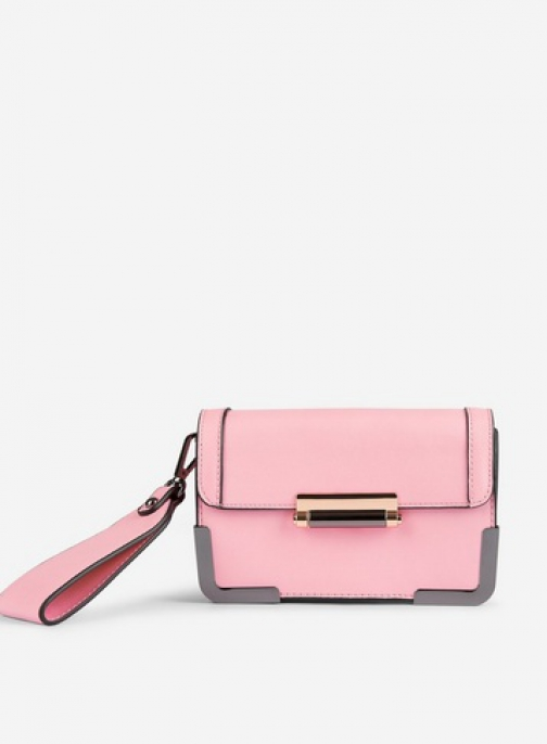 Pieces Pink 'Bree' Cross Body Bag Crossbody Bag