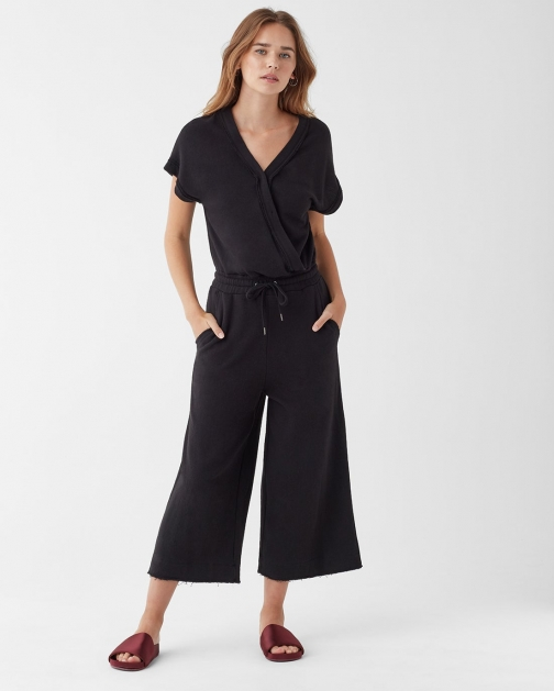 Splendid Supersoft French Terry Surplice Jumpsuit
