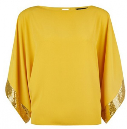 Dorothy Perkins Lime Sequin Batwing Top Cuff