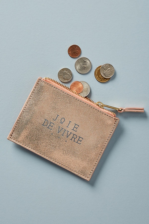 Anthropologie Pandora Leather Coin Pouch - Pink Bag