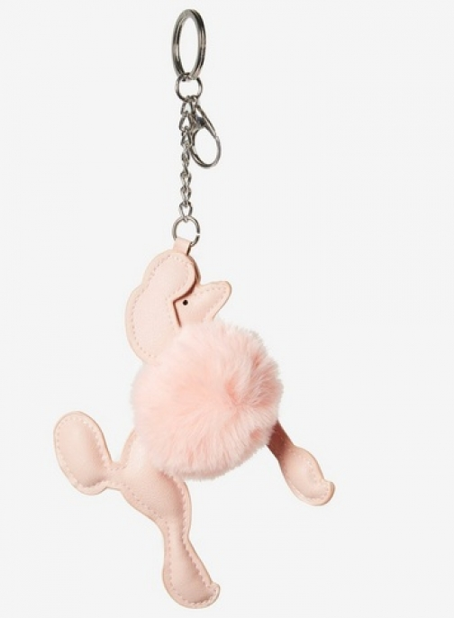 Dorothy Perkins Womens Pink Poodle Pom Keyring- Pink, Pink Accessorie