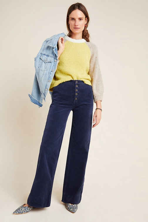 Anthropologie Wide-Leg Corduroy Jeans