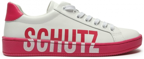 Schutz Shoes Maisy Sneaker - 6 Paradise Pink Leather Trainer