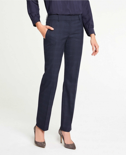 Ann Taylor The Straight Pant Windowpane Suit