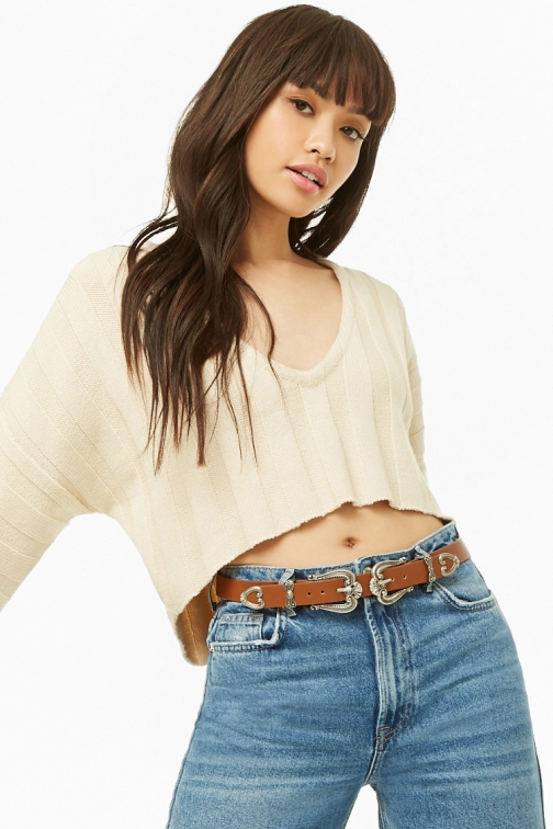 Forever21 Forever 21 Double-Buckle Faux Leather Tan Belt