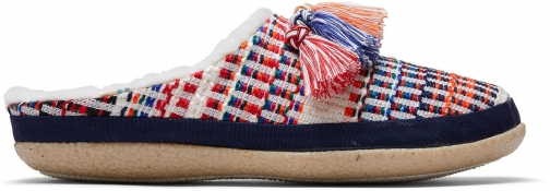 Toms Nepal Tweed With Tassels Women's Ivy Slippers
