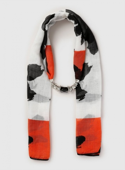 Dorothy Perkins Womens Multi Coloured Bead And Neckwear- Black, Black Scarf