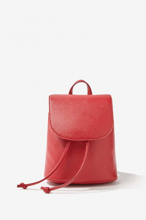Forever21 Forever 21 Faux Leather , Red Backpack