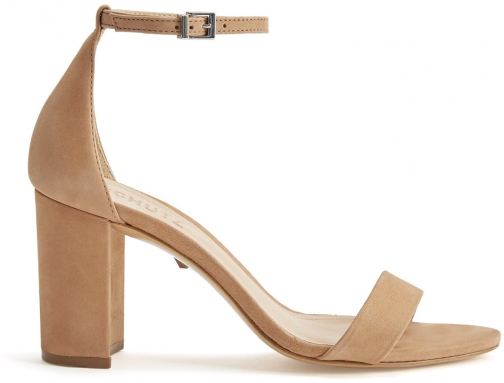 Schutz Shoes Anna-Lee Sandal - 5 Toasted Nut Nubuck Sandals