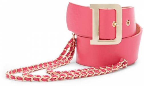 Forever21 Forever 21 Buckled & Chained Waist Hot Pink Belt