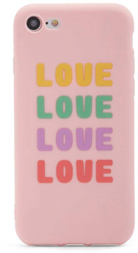 Forever21 Forever 21 Love Phone For IPhone 7/8 , Pink/multi Case