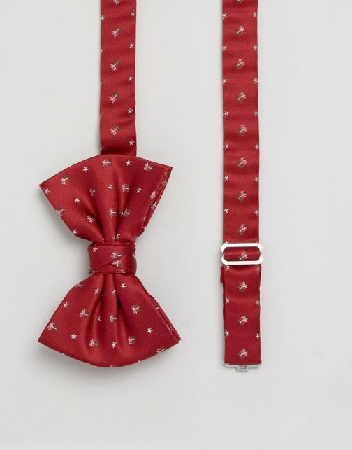 Asos Christmas With Present Design Bow Tie