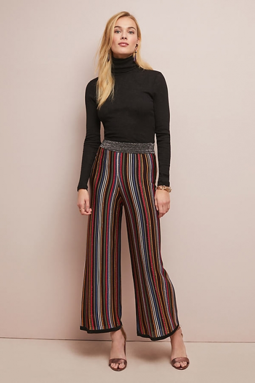 Anthropologie Retro Striped Trousers Trouser