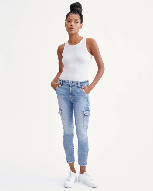 7 For All Mankind Womens Skinny Cargo Sloane Vintage Size: 23 Trouser
