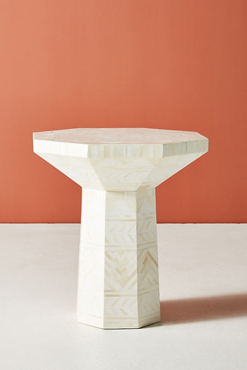 Anthropologie Flagstaff Side Table - Beige Accessorie
