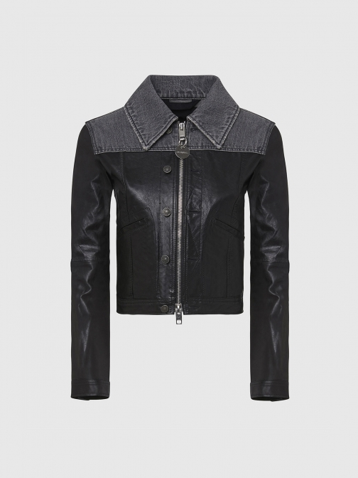 Diesel 0HAYJ - Black - XXS Leather Jacket