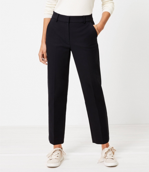 Loft Tall Perfect Straight Pants Stretch Double Weave Trouser