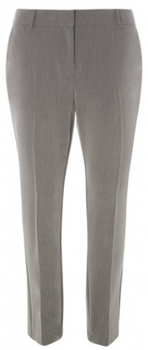 Dorothy Perkins Womens Grey Fob Trim - Grey, Grey Slim Trouser