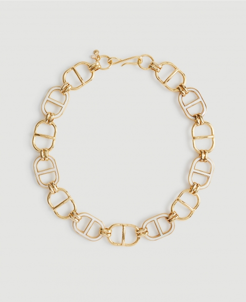 Ann Taylor Mother Of Pearl Link Necklace
