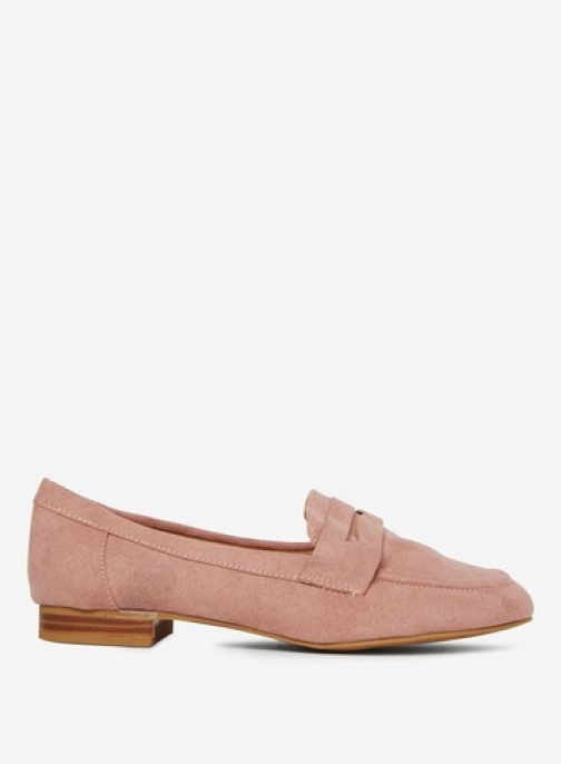 Dorothy Perkins Womens Nude Microfibre 'Layla' - Pink, Pink Loafer
