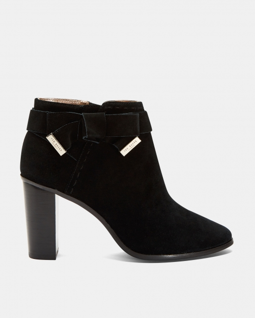 Ted Baker Bow Detail Suede Ankle Boot