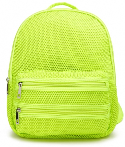 Forever21 Forever 21 Neon Mesh , Neon Green Backpack
